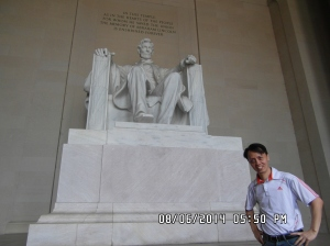 Touring Washington DC in a day- Lincoln Memorial