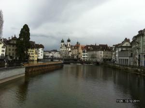Old Chapel Bridge in Lucerne